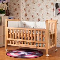 婴儿床实木环保床多功能欧式可变形宝宝床 婴儿床