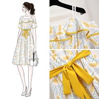 安妮�夏款2020新款�凸湃垢哐�很仙的法��小�桔梗裙碎花吊�а┘��B衣裙