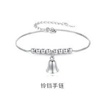 铃铛手链女纯银ins小众设计简约个性森系手饰潮送闺蜜圣诞节礼物