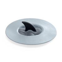 创意鲨鱼鳍地漏厨房洗菜盆水槽卫生间水槽堵塞 过滤器 灰色