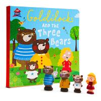 三只小熊和金发姑娘Goldilocks and the Three Bears 英文原版绘本 玩具房屋Playhous