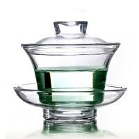 HEISOU 耐热玻璃盖碗功夫茶具 玻璃茶具 玻璃杯