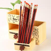 铅笔书写HB橡皮头铅笔 学生木制铅笔 (10支装)