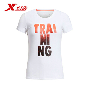 特步女子运动上衣舒适轻便休闲T恤夏季女款短袖984228011446