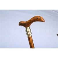 黄金檀木老人防滑拐杖拐棍实木龙头手杖圆头文明杖三节木质文明棍