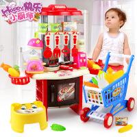 做饭厨具餐具套装音乐厨房玩具过家家玩具儿童玩具女孩男孩g1k