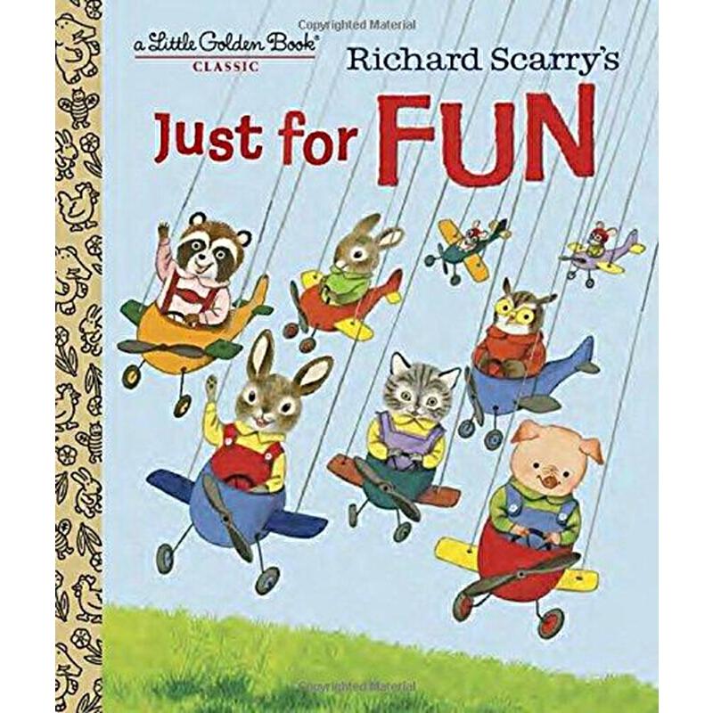 【英文原版】Richard Scarry's Just For Fun (Little Golden Book) 只为有趣(Little Golden Book)
