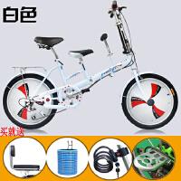 20180717195036325 子车母子车折叠自行车双人座可以带小孩自行车女式变速母婴单车