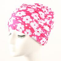 游泳帽女长发加大号不勒头护耳韩国时尚印花色可爱舒适布泳帽