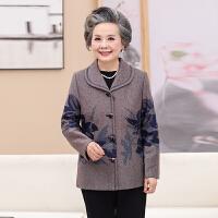 中老年人秋季女夹克外套妈妈装开衫上衣60-70-80岁奶奶装过寿衣服