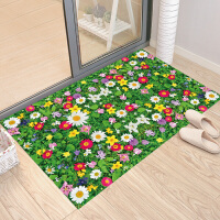 绿草地地板贴卧室墙壁背景装饰贴画可移除防水贴纸自粘可拼贴 绿草地 特大
