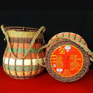 2016年 三鹤 六堡茶 茶叶 生茶 2.5公斤/箩 2箩