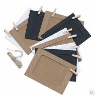 陆捌壹肆  日韩文具  牛皮纸相框 挂式纸相框 DIY相框 纸制照片墙 6寸套装 1套装