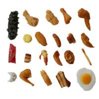 仿真肉模型鸡脚鸡蛋排骨鸡中翅膀红烧肉虾鲍鱼肉类食品食物摆件
