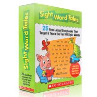英文原版绘本 Sight Word Tales 常见词高频关键词故事25册盒装+1册家庭老师指导手册入门图书 scho
