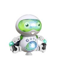 智能旋转劲风炫舞者男女孩儿童电动玩具礼物跳舞机器人 炫舞机器人 青绿色