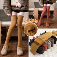 长筒袜女生黑色过膝袜高筒袜潮秋冬季保暖厚冬天