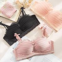 钻石丫丫无钢圈聚拢小胸罩半杯甜美粉色文胸套装日系性感内衣女-BC12065
