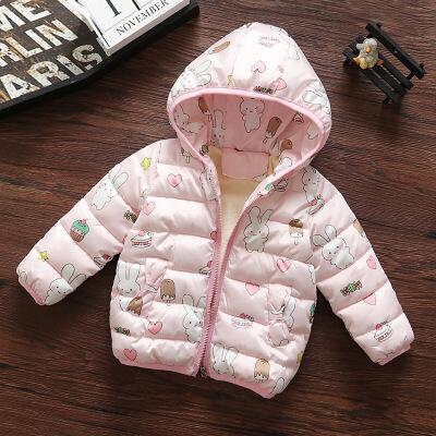 女宝宝羽绒女童棉衣儿童短款冬季外套冬装