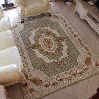 简欧地毯样板房地毯珊瑚绒欧式沙发客厅茶几地毯卧室床边床前毯