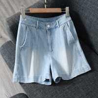 穿出来的年轻时髦态度!纯色高腰显瘦百搭休闲阔腿短裤女 XZ2076
