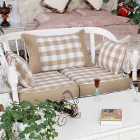 沙发靠背坐垫套海绵硬沙发垫实木布艺沙发垫子欧式定做
