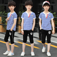 男童夏装新款套装儿童夏季童装韩版中大童短袖两件套潮