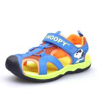 史努比男童凉鞋包头中大童夏季新款宝宝凉鞋沙滩鞋儿童学生鞋