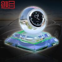 御目 汽车摆件 创意水晶时钟多色可选车载香水座小口径发挥孔夜光时来运转车内饰品摆件