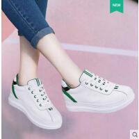 莱卡金顿新款女鞋日常休闲鞋韩版运动鞋圆头平底内增高系带女鞋6416