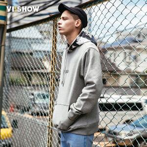 VIISHOW2018春季新款卫衣套头连帽学生上衣男士韩版宽松外套潮流