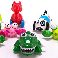 儿童宝宝学爬行上弦动物奶瓶套装存钱罐上链发条玩具
