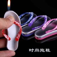搞笑创意人字拖鞋模型个性创意造型充气防风打火机送朋友 颜色随机发 1个