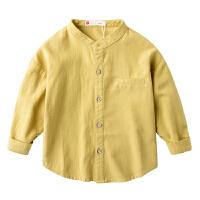 儿童衬衫春季男童长袖衬衣宝宝立领春装