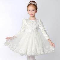 儿童礼服 女童长袖公主蓬蓬裙 钢琴演出服秋 长袖款