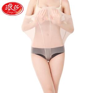 【6条装】浪莎丝袜女薄款连裤袜防勾丝春夏季加长大码肉色打底袜隐形全透明