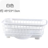 多功能置物架厨房塑料放碗沥水篮整理架餐具碗筷碗碟收纳架碗架 1层