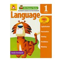 【首页抢券300-100】Evan-Moor At Home Tutor Language Grade 1 家中导师系列