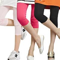 夏装200斤女裤显瘦七/九分裤女士外穿白搭打底裤大码糖果色紧身裤