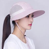 夏季女式户外防晒帽子大檐遮阳帽太阳帽护颈披风帽子