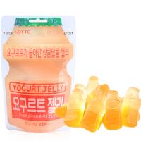 韩国进口零食品 LOTTE乐天酸奶味软糖50g 乳酸菌儿童果汁软糖果