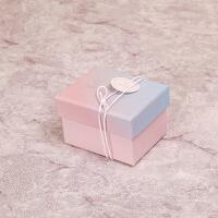 卡通清新礼品盒 迷你礼物纸盒 生日包装盒 糖果盒礼盒定做简约小单盒