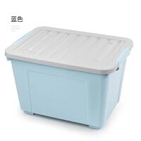 收纳箱胶箱塑料储物箱特大号收耐箱三件套家用收衣服的箱子整理箱