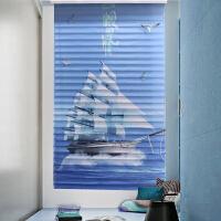 3D打印香格里拉百叶窗帘遮光卷帘印花卧室客厅个性定制新款