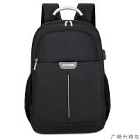 男士双肩包男背包女韩版潮流商务男士15寸电脑包高中学生书包休闲旅行