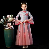 儿童襦裙汉服女童旗袍古装中国风唐装超仙女秋季长袖