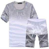 男士短袖T恤休闲运动套装韩版短裤沙滩裤潮流2018新款上衣服半袖