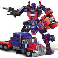儿童积木玩具 变形金刚惊天柱拼装积木玩具汽车人模型男孩儿童礼盒装生日礼物 擎天金刚