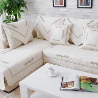 田园棉布沙发垫订做布艺沙发坐垫防滑皮沙发套家居全盖沙发巾四季