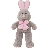 兔子毛绒玩具美国大玩偶女生超萌抱枕布娃娃公仔可爱睡觉抱着女孩 站款 →高 1.5米可拆洗【*品袋+玫瑰花】